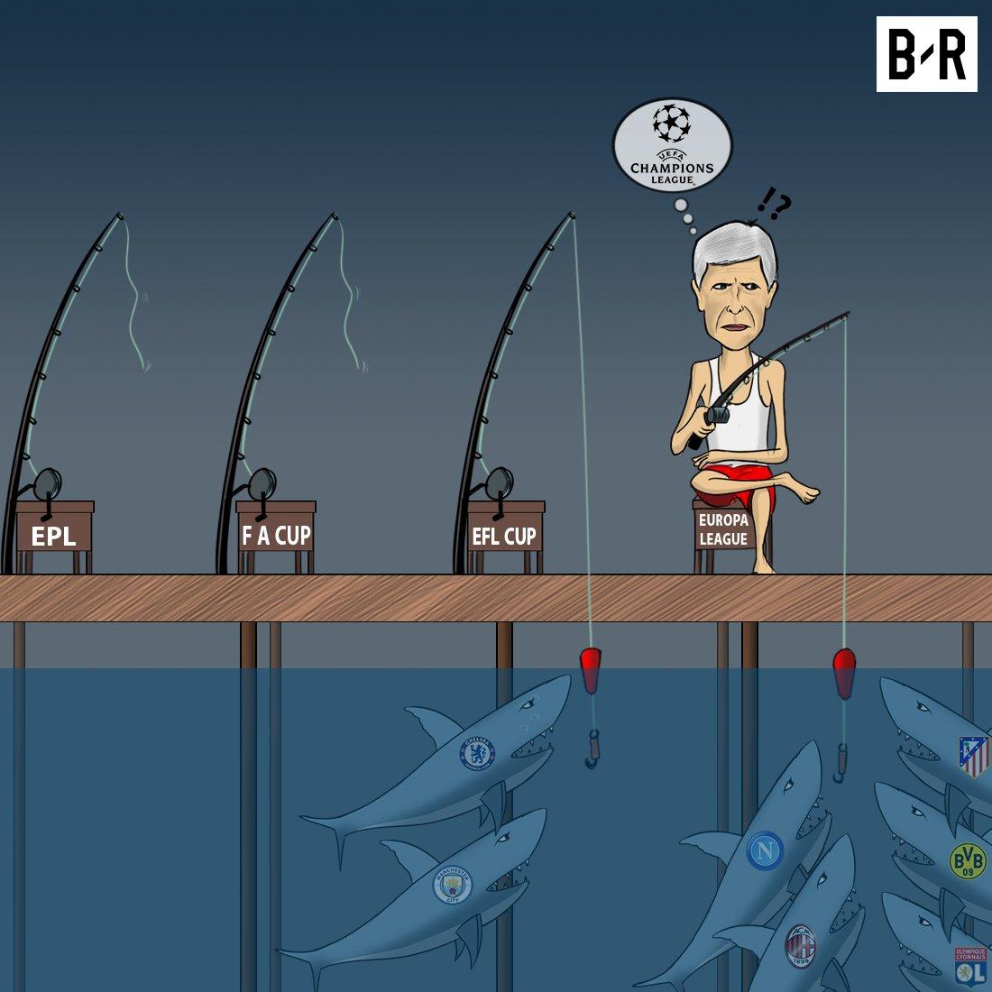 فصل پیش روی ونگر در آرسنال؛ یورو لیگ تنها امید+کارتون
