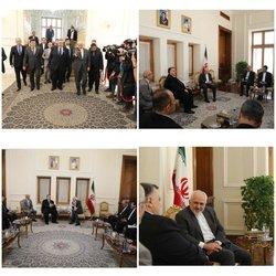 دیدار رئیس مجلس سوریه با ظریف