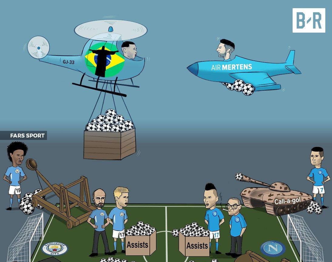 رویارویی من سیتی و ناپولی به روایت کاریکاتور