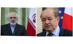 گفت وگوی برجامی وزیران خارجه ایران و فرانسه