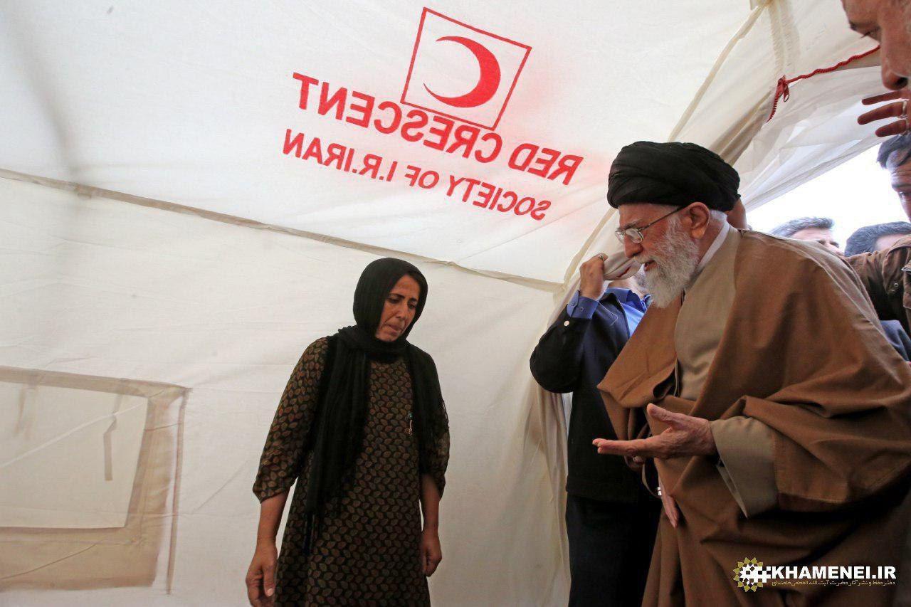 ع / حضور ی در چادرهای اسکان ز له زدگان