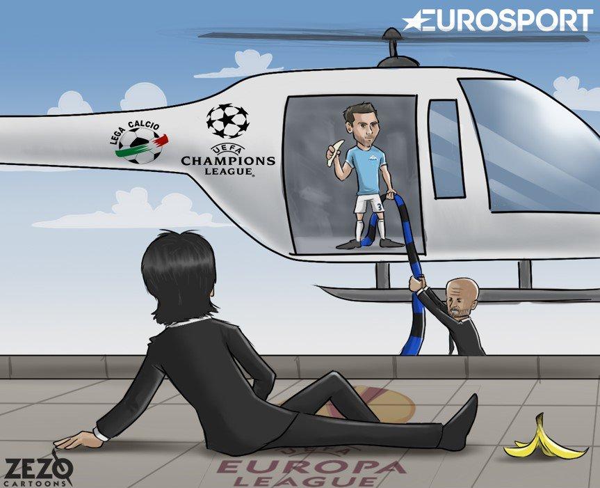اینترمیلان با غلبه بر لاتزیو راهی لیگ قهرمانان اروپا شد+کاریکاتور