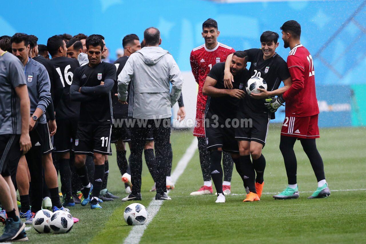 سردار، سوژه خطرناک تمرین آخر تیم ملی+عکس