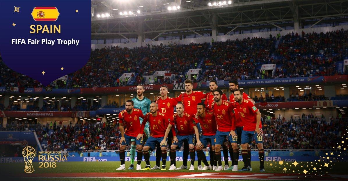 اسپانیا برنده جایزه تیم فرپلی جام جهانی 2018 شد+عکس